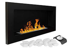 Биокамин Nice-House 900x400 мм, черный, полный комплект