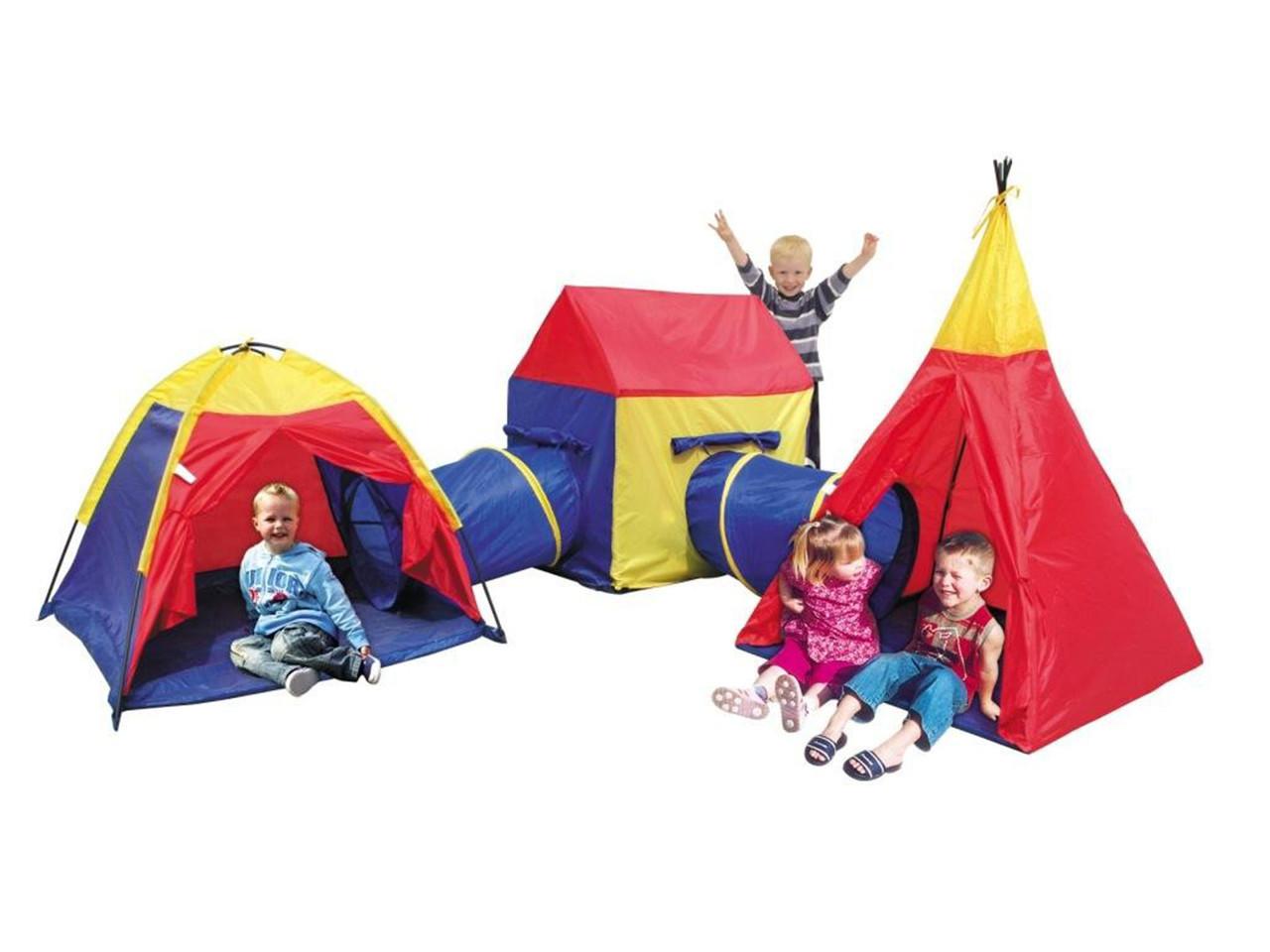 Дитячі ігрові намети, будиночки Ecotoys 5 in 1, з тунелем,вігвам