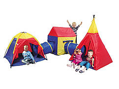 Детские игровые палатки, домики Ecotoys 5 in 1, с тоннелем,вигвам