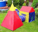 Дитячі ігрові намети, будиночки Ecotoys 5 in 1, з тунелем,вігвам, фото 3