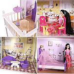 Мега великий ігровий ляльковий будиночок для барбі 4108 Beverly 124 см, фото 8
