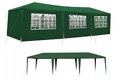 Павильон садовый 2P, зеленый, размеры 9 х 3 м