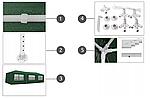 Павільйон садовий 2P, зелений, розміри 9 х 3 м, фото 4