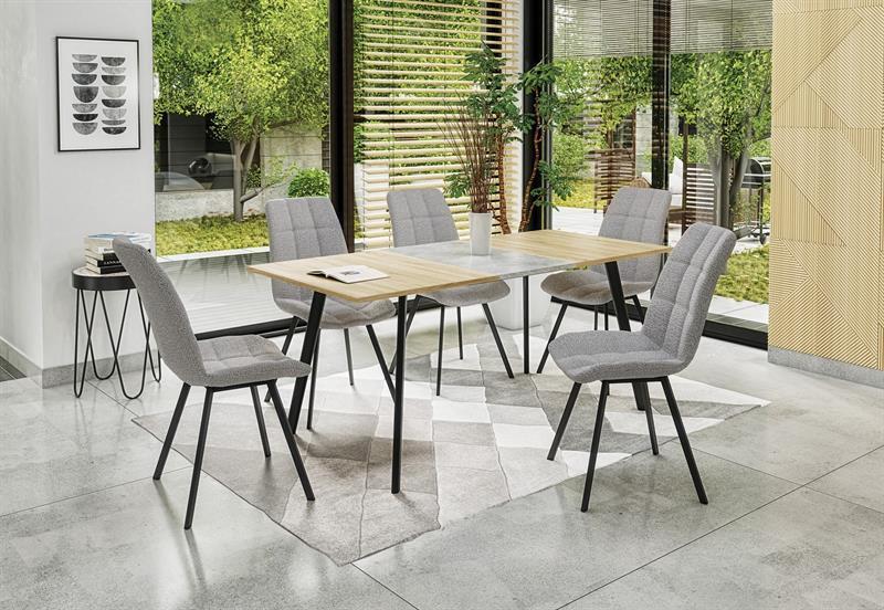 Стол раскладной ALBON дуб сонома/серый 120(160)x80 (Halmar)