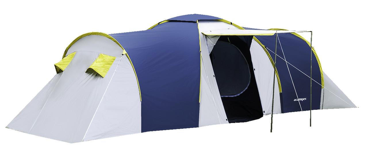 Палатка туристическая ACAMPER Nadir 6, 3500 мм, тамбур синяя