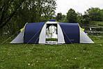 Палатка туристическая ACAMPER Nadir 6, 3500 мм, тамбур синяя, фото 2