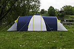 Палатка туристическая ACAMPER Nadir 6, 3500 мм, тамбур синяя, фото 3