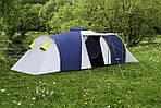 Палатка туристическая ACAMPER Nadir 6, 3500 мм, тамбур синяя, фото 4