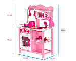Дерев'яна кухня для дітей Wooden Toys Classic Pink, фото 2