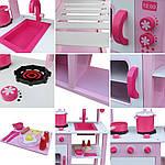 Дерев'яна кухня для дітей Wooden Toys Classic Pink, фото 6