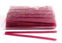 Клей для термопистолета 30 см 0,7 см цветной с глитером Розовый