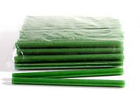Клей для термопистолета 30 см 1,1 см цветной с глитером Зелёный