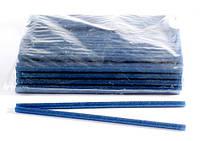 Клей для термопистолета 30 см 1,1 см цветной с глитером Синий