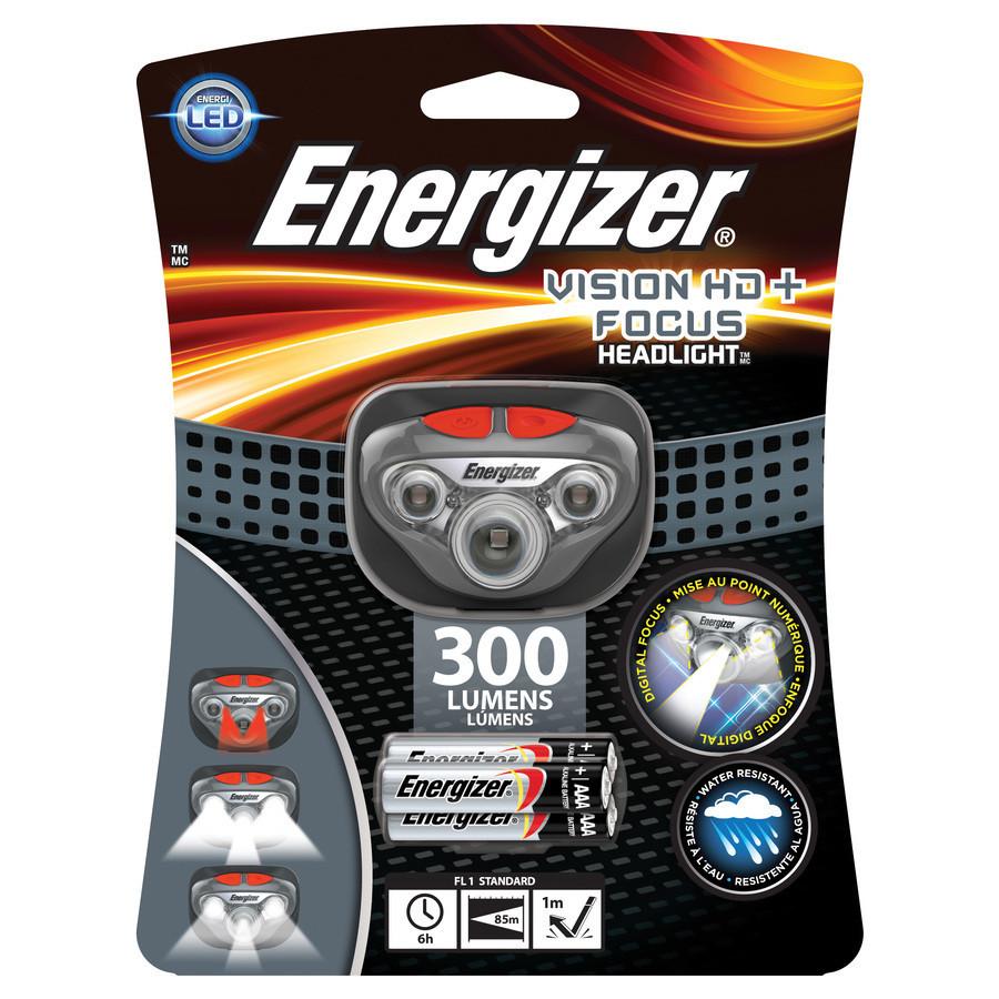 Налобний ліхтарик Energizer VISION hd+ ,300 люменів