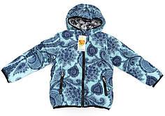 Детская зимняя куртка утепленная евро зима куртка для девочки мята 5-6 лет.