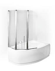 Стеклянная шторка для ванны 120х140 см