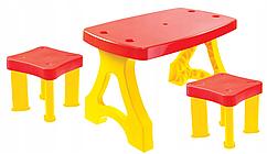 Большой детский столик + 2 табуретки Mochtoys Польша