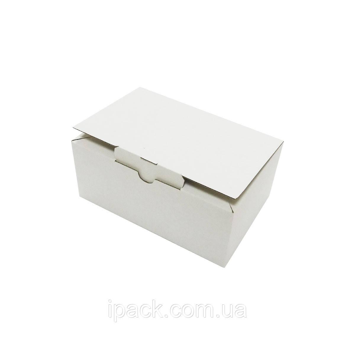 Коробка картонная самосборная, 145*95*60, мм, белая, микрогофрокартон