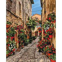 Картины по номерам DIY - Цветочная улица (КНО3549) картины по цифрам ТМ Идейка