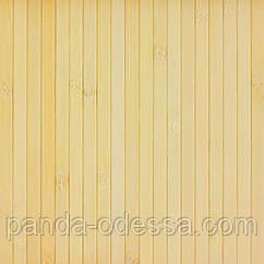 В пределах отрезка 0,85 м.п./ Бамбуковые обои светлые, 0,9 м, ширина планки 12 мм