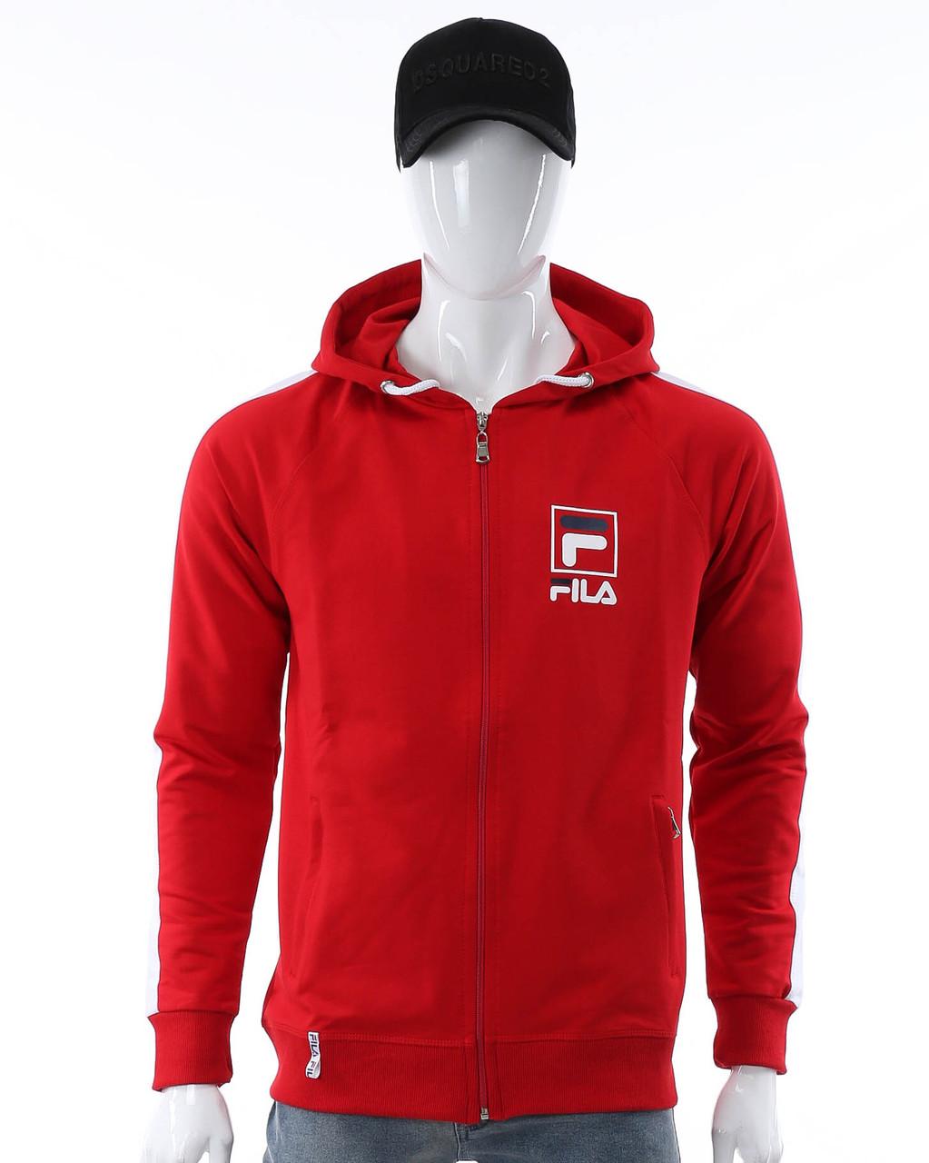 Кофта весна-осень красный/белый FILA с капюш К-203 RED/WHT L(Р) 20-712-002