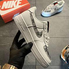 """Кроссовки Nike Air Force 1 Low Gucci Custom """"Белые"""""""