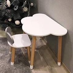 Дитячий дерев'яний набір стіл і стільчик. 100% дерево масив бук