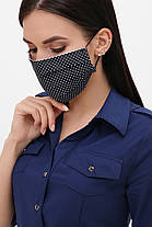Багаторазова захисна маска з малюнком і принтом для особи на гумці, фото 3