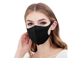 Маска Питта для защиты органов дыхания черная неопрен