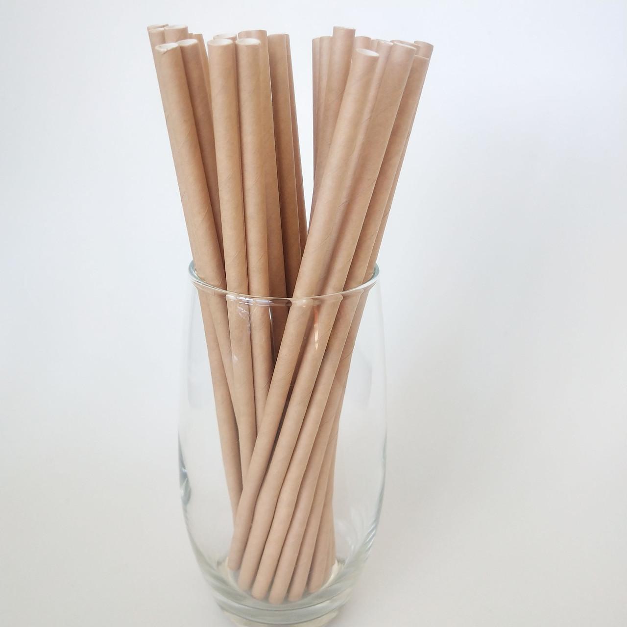 Трубочки для соку паперові 25 шт 1744