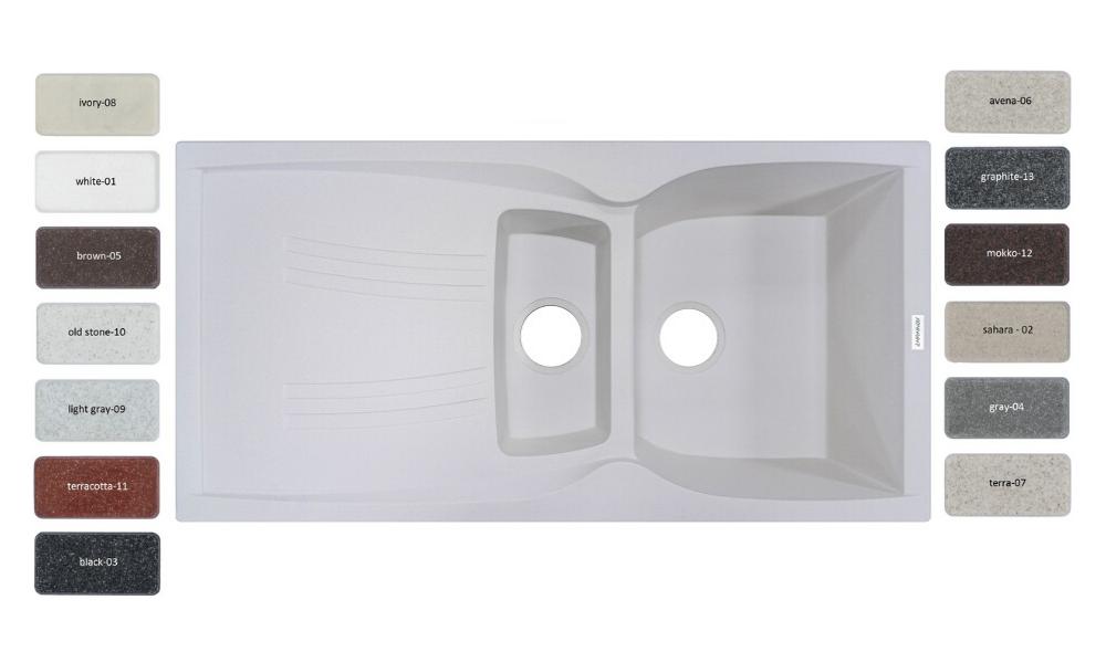 Мойка кухонная Adamant NEW LINE PLUS 980х500х230