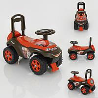 Машина каталка толокар Автошка 0142/U/01 оранжево-коричневый Фламинго музыкальный