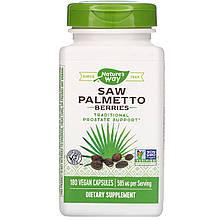 "Ягоды пальмы сереноа Nature's Way ""Saw Palmetto Berries"" 585 мг (180 капсул)"