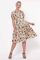 Платье летнее Лорен беж маки