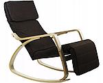 Крісло гойдалка Goodhome Brown, 120кг, фото 2