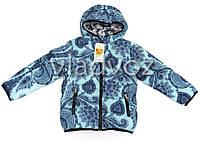 Модная утепленная куртка мята 9-10 лет.