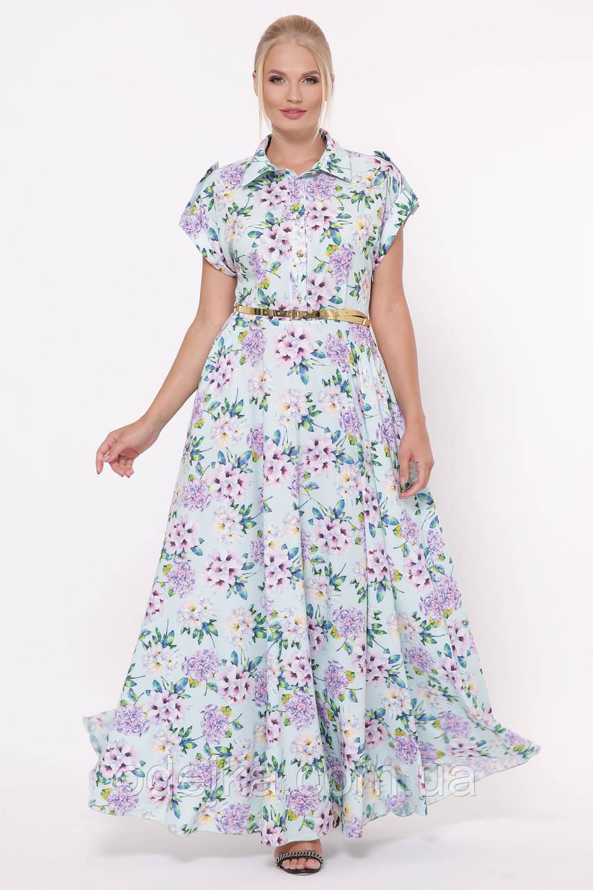 Платье Алена гортензия мята
