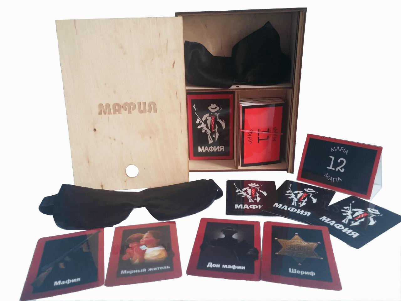 Мафия: Классический подарочный набор для игры в деревянной коробке