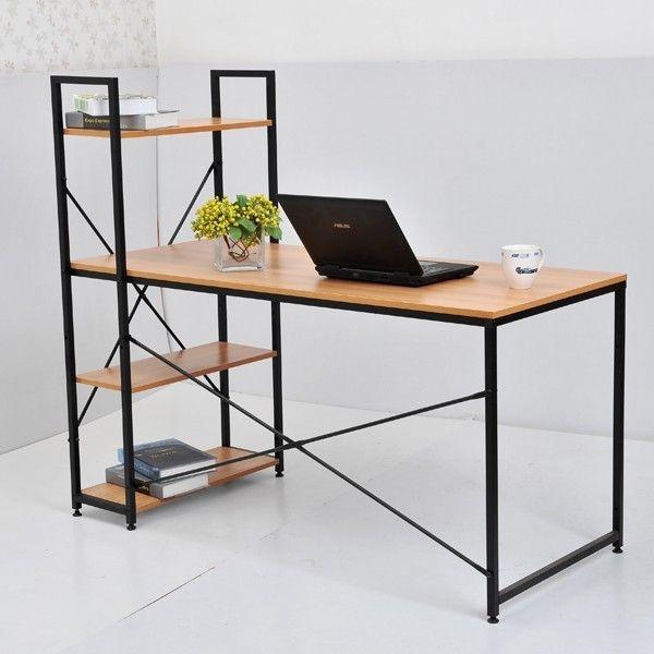 "Рабочий стол из металла со стелажом Лофт ""Гарри"""