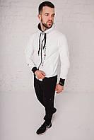 Спортивный костюм мужской весенний белый в стиле Tommy Hilfiger. Кофта + штаны. Спортивний костюм чоловічий