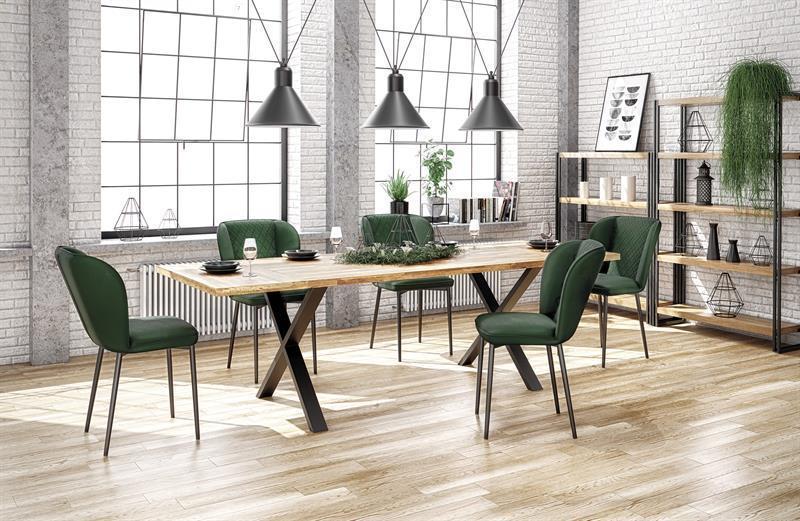 Стіл APEX колір дуб/чорний 140x85 (Halmar)