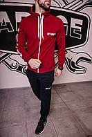 Спортивный костюм мужской весенний бордовый в стиле Off-White. Кофта + штаны. Спортивний костюм чоловічий