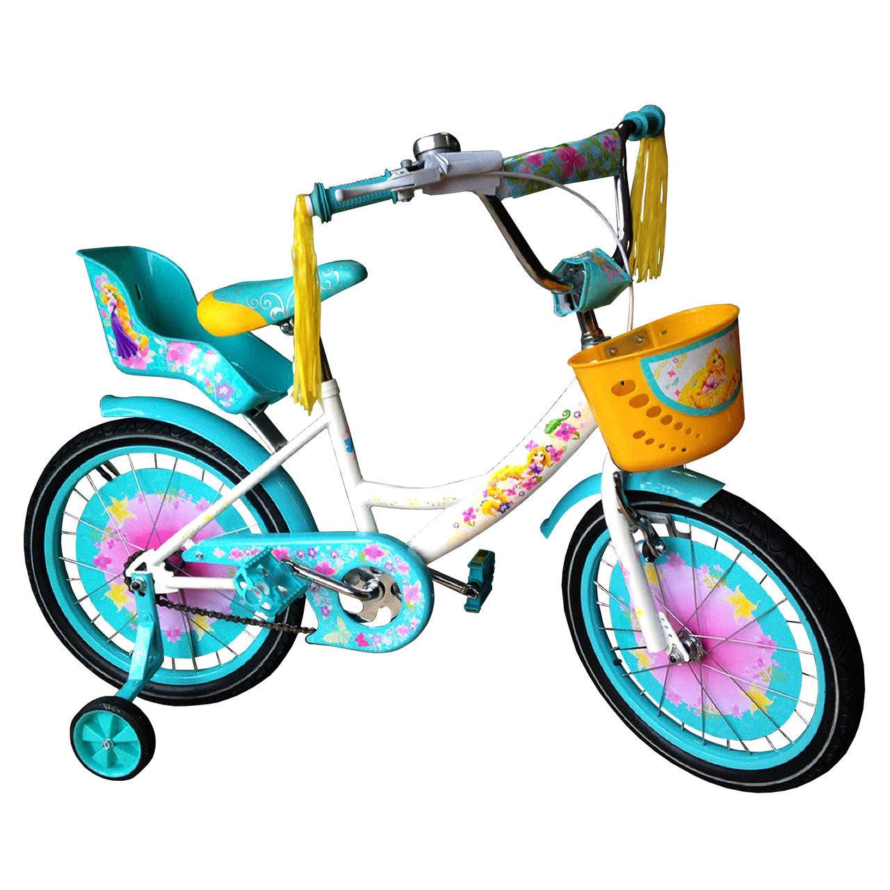 """Детский велосипед Crosser GIRLS R18"""" (Бирюзовый)"""