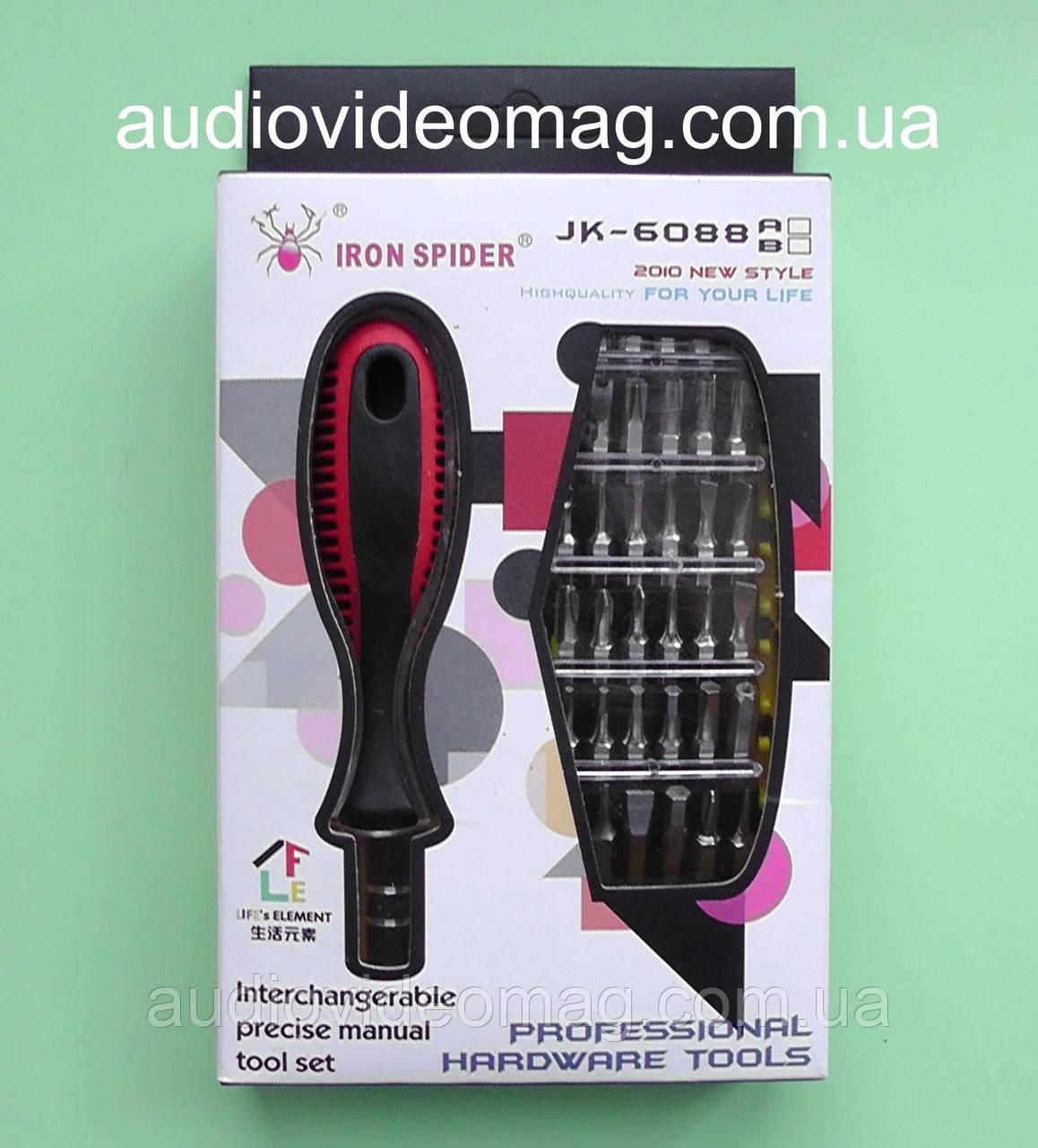 Набір біт Iron Spaider 6088B 37 в 1 для ремонту мобільних телефонів, планшетів