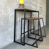 Барный стул из металла в стиле ЛОФТ, фото 2
