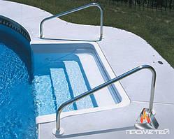 Поручні нестандартних розмірів з нержавіючої сталі для басейнів