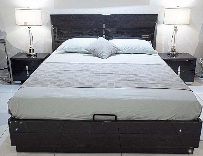 Кровать Дакота с подъемным механизмом 1,6х2 темно- серый МДФ от Frisco