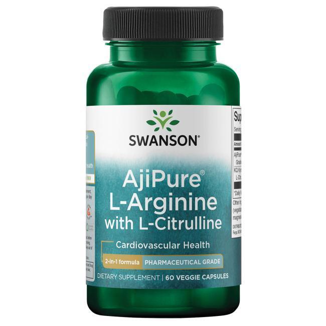 Swanson Ultra AjiPure L-Arginine (540 мг) + L-Citrulline (180 мг) 60 капс