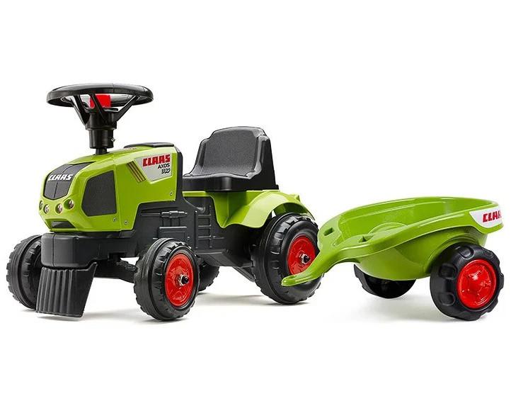 Детский трактор каталка с прицепом Claas Axos Falk 1012B толокар для детей (дитячий трактор для дітей)