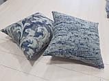 Комплект подушек беж с темно синим узором 2шт, фото 2